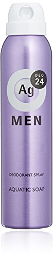 隠された木曜日製造業エージーデオ24 メンズ デオドラントスプレー アクアティックソープの香り 100g (医薬部外品)