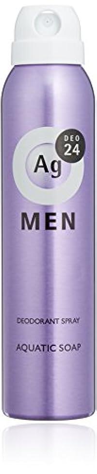 添加大佐帝国エージーデオ24 メンズ デオドラントスプレー アクアティックソープの香り 100g (医薬部外品)