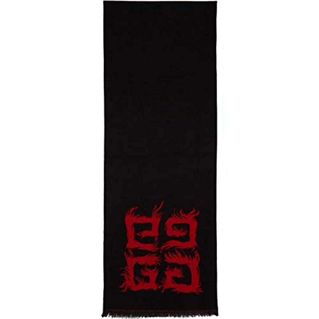 調整するワードローブ延ばす(ジバンシー) Givenchy レディース マフラー?スカーフ?ストール Red & Black 4G Flame Scarf [並行輸入品]