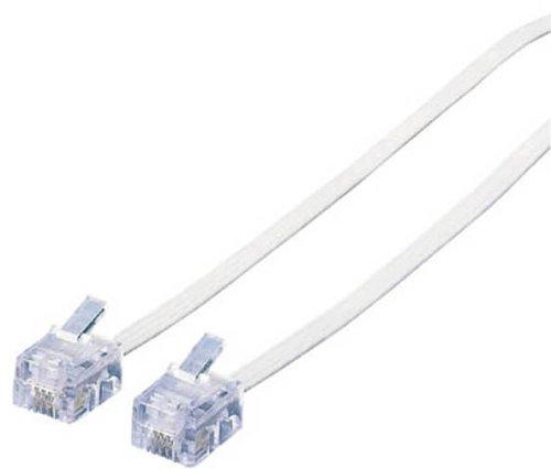 ELECOM スリムモジュラケーブル(白)20m MJ-20WH