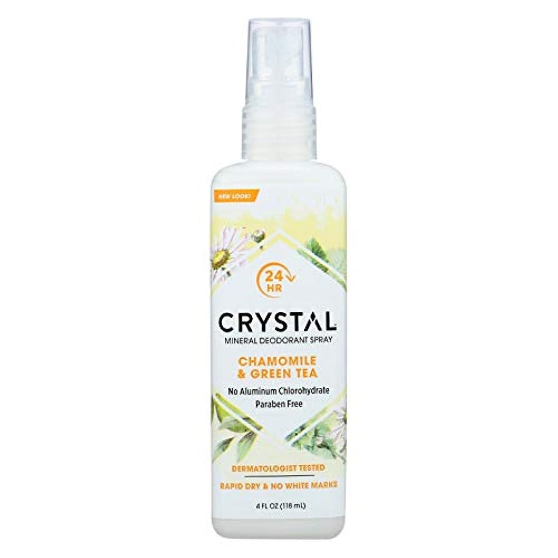 十一集中複雑でないCrystal Body Deodorant - 水晶本質のフランスの運輸Chamomile及び緑茶によるミネラル防臭剤ボディスプレー - 4ポンド
