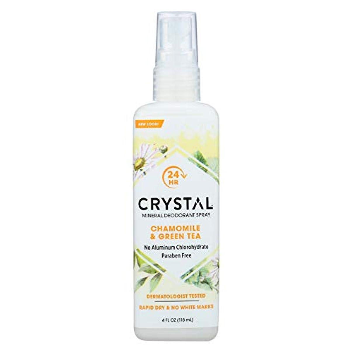 気味の悪いクライマックス自伝Crystal Body Deodorant - 水晶本質のフランスの運輸Chamomile及び緑茶によるミネラル防臭剤ボディスプレー - 4ポンド