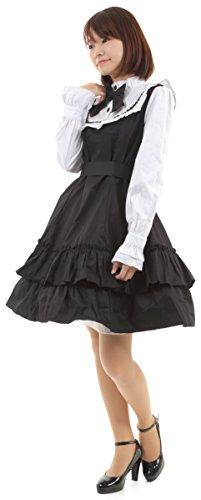 4b48db4686acd Hachigo (ハチゴウ) ゴスロリ 風 ドレス ワンピース スカート フリル レース リボン ゴシック ロリータ Lolita レディース