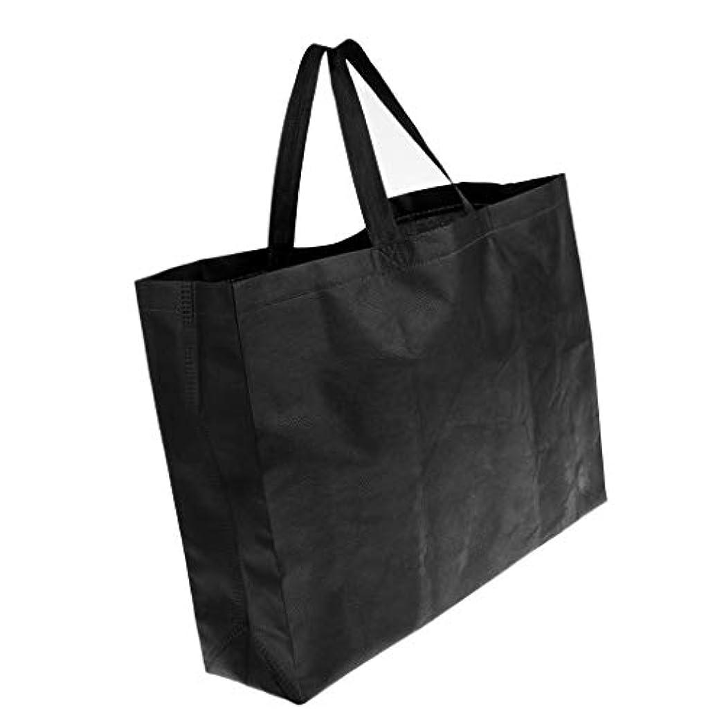 粒グッゲンハイム美術館好ましいT TOOYFUL トート バッグ ショッピング ブラック 折りたたみ買い物袋 収納バッグ 厚手 防水 キャリーバッグ