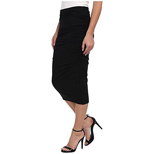 (スリードッツ) Three Dots レディース スカート カジュアルスカート Ruched Midi Skirt 並行輸入品