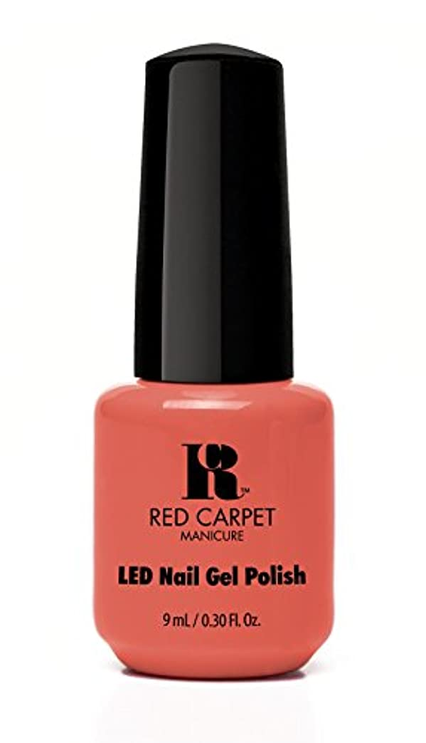哀れな組み立てる主Red Carpet Manicure - LED Nail Gel Polish - Coral Wishes - 0.3oz / 9ml