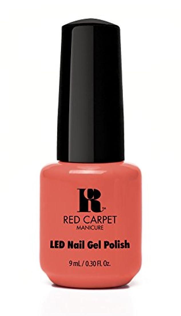 大使館運河ワイプRed Carpet Manicure - LED Nail Gel Polish - Coral Wishes - 0.3oz / 9ml