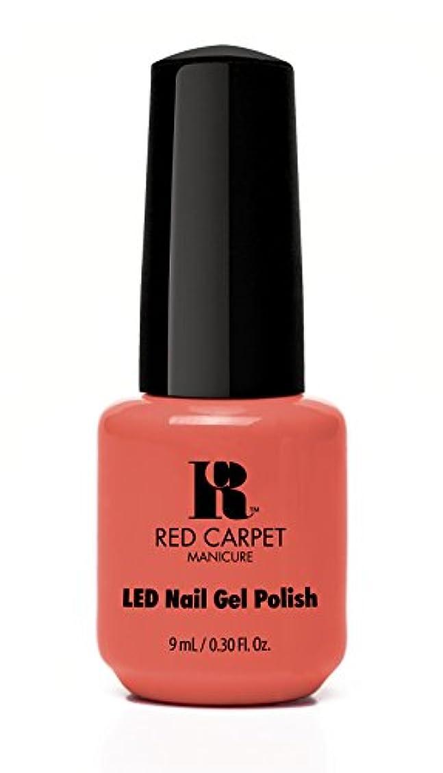 マスク三角夕食を食べるRed Carpet Manicure - LED Nail Gel Polish - Coral Wishes - 0.3oz / 9ml