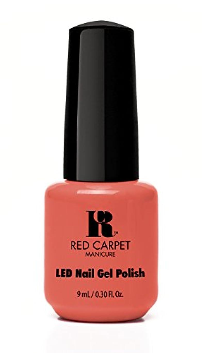 いたずら震え圧縮Red Carpet Manicure - LED Nail Gel Polish - Coral Wishes - 0.3oz / 9ml