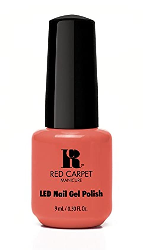 徹底的に海嶺食器棚Red Carpet Manicure - LED Nail Gel Polish - Coral Wishes - 0.3oz / 9ml