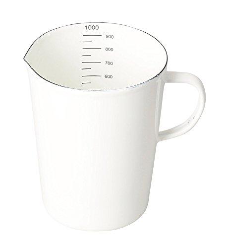 パール金属 計量カップ メジャーカップ 1000ml ホーロー ブランキッチン HB-3683