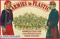 Armies in Plastic 1/32 American Civil War 114th Union Pennsylvania Zouaves (20) [並行輸入品]