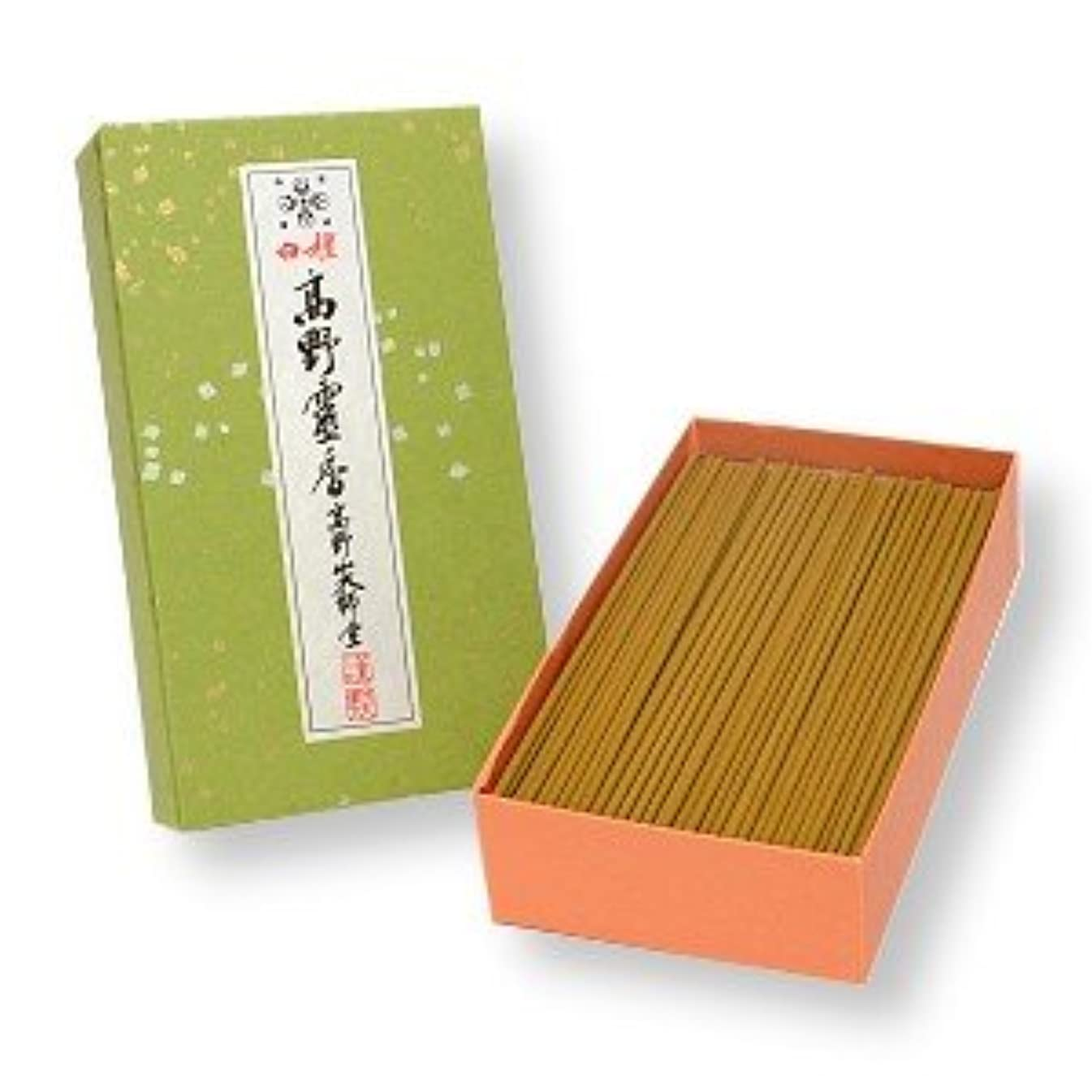 剣ボスデザイナー高野山のお線香 白檀高野霊香 5寸13cm 大箱