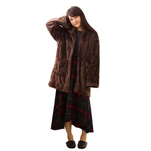 東京西川 あったかガウン(着る毛布) ブラウン M~Lサイズ...