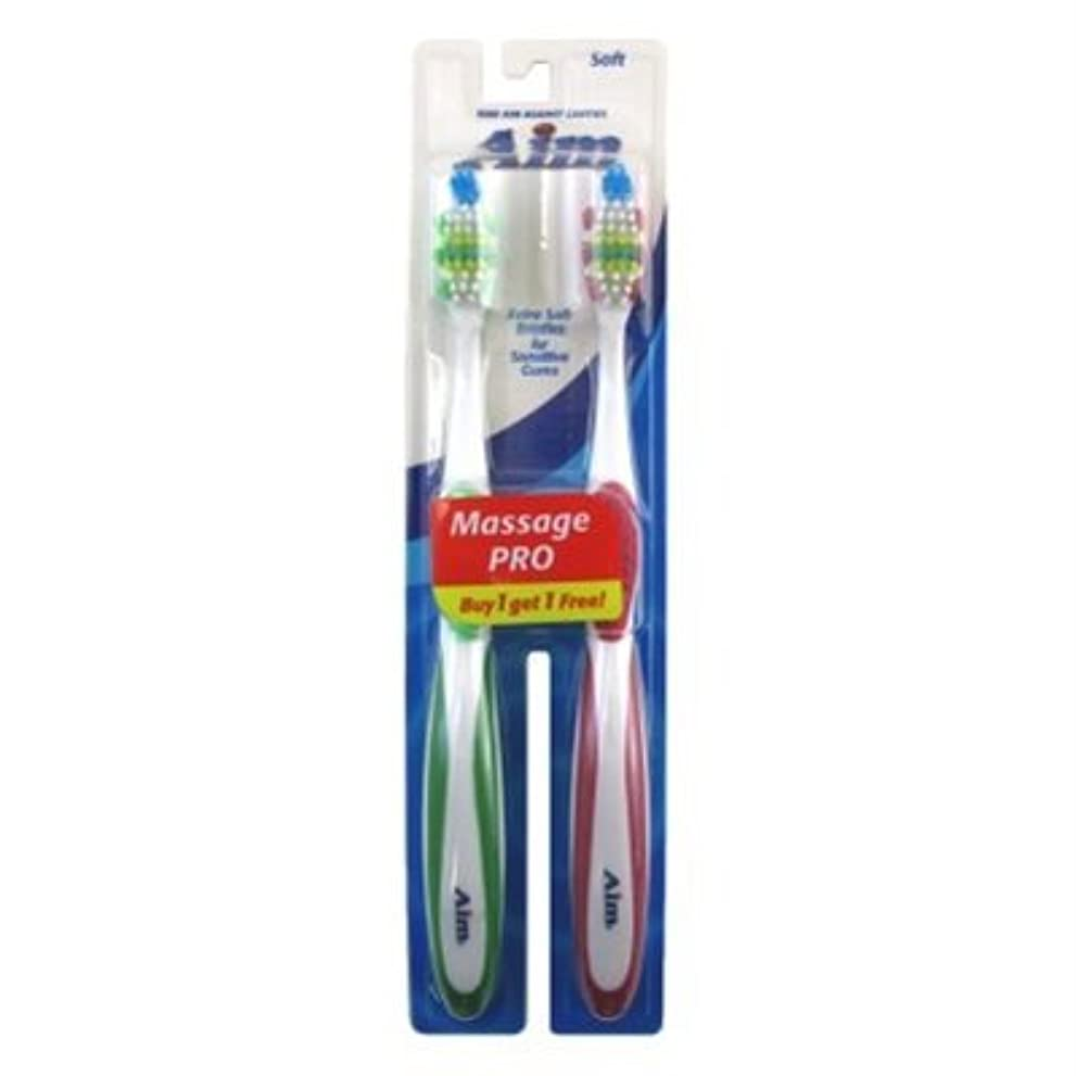 ポイント値十分ですAim Toothbrush 2's Bogo Soft (並行輸入品)
