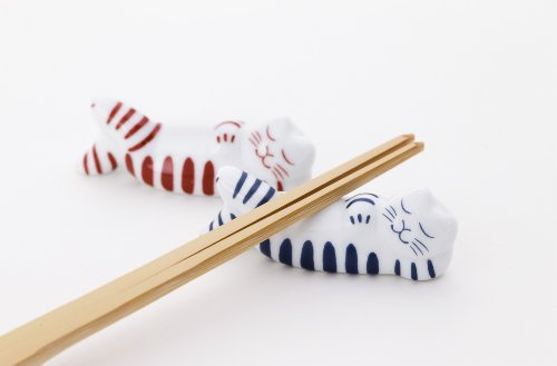 リサ・ラーソン 箸置き ねるねこマイキー(赤&青)