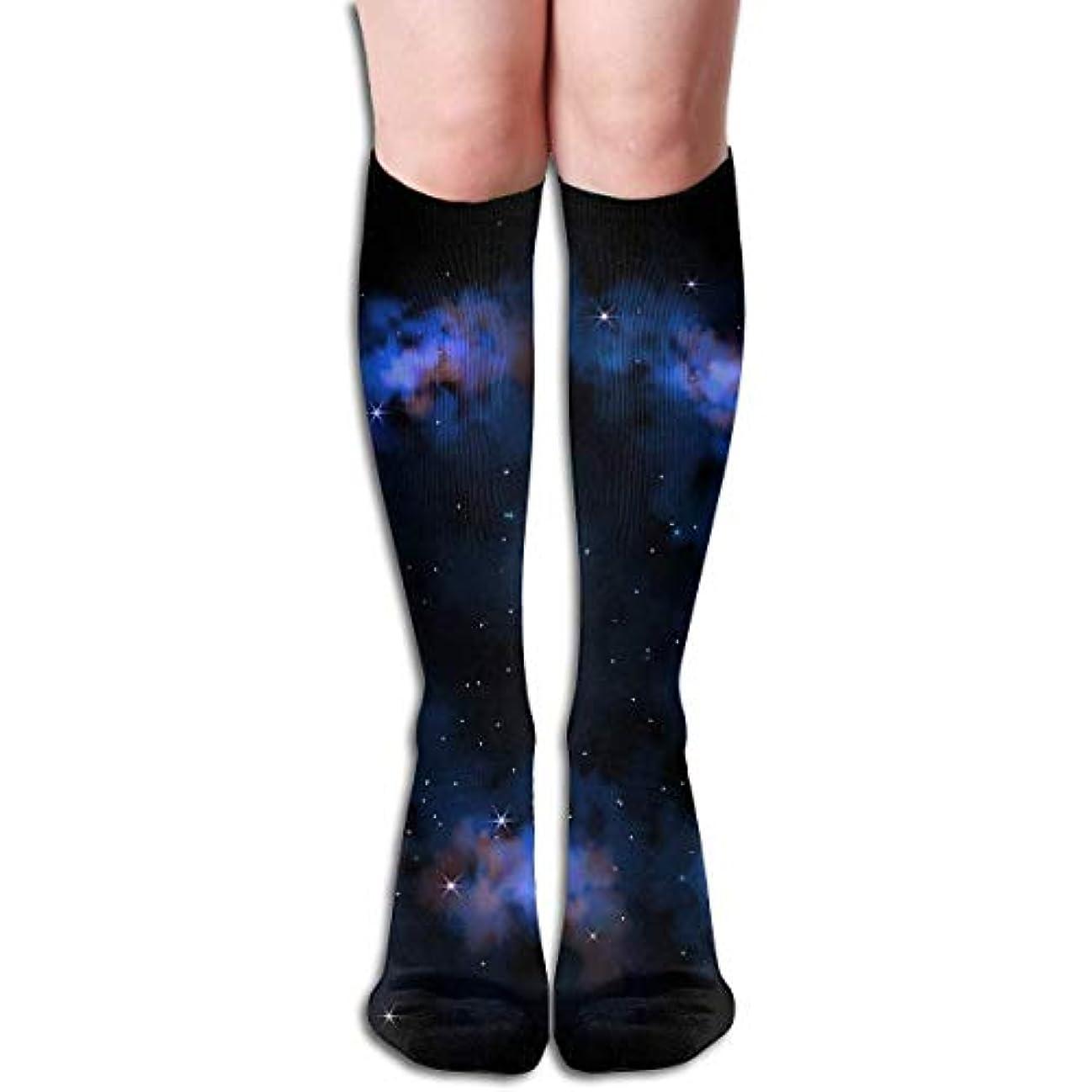 どきどき肯定的真似るqrriyスカイ銀河星チューブストッキングレディース冬暖かい暖かいハイソックスブーツ靴下