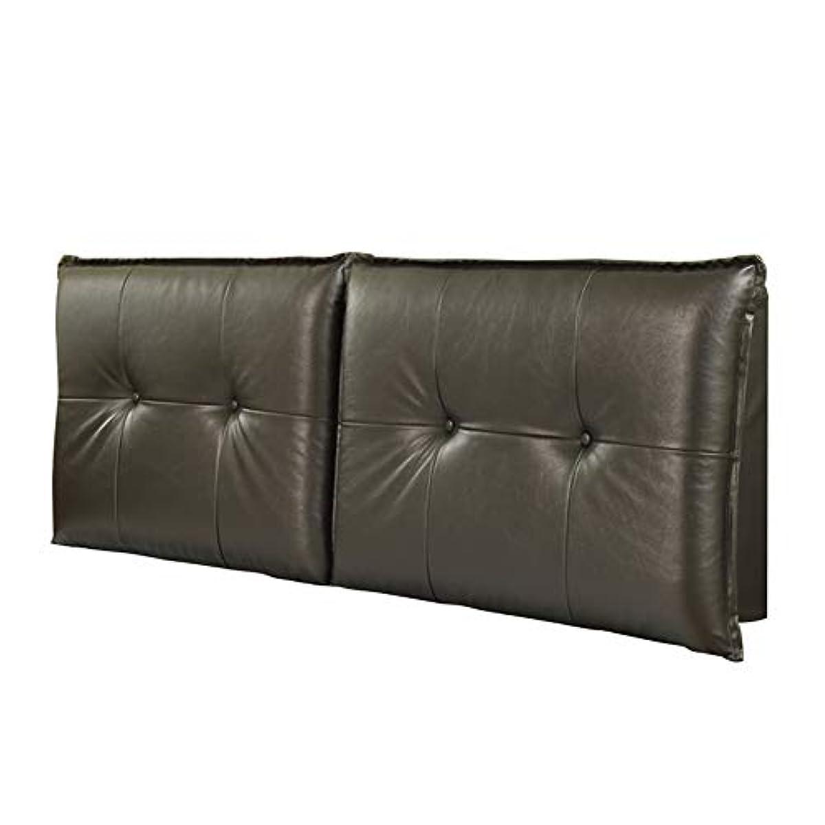 頑固な白い回転するLIANGLIANG クッションベッドの背もたれ ホームベッドルーム二人乗りエクストララージベッドレストクッション快適な通気性PUスクラブ、2色、19サイズ (色 : 黒, サイズ さいず : 130x60x10cm)