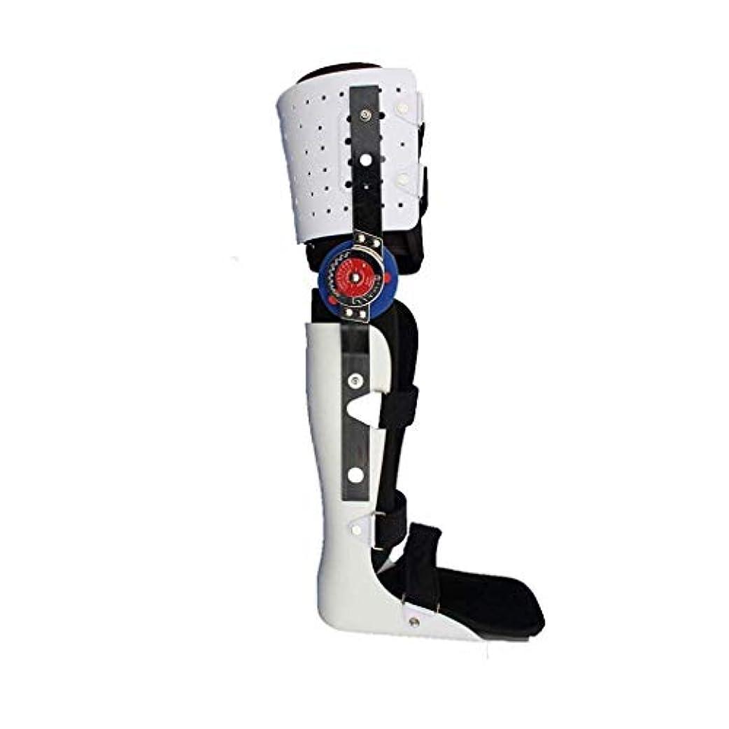 心理的アミューズメント実験をする下肢装具、ブレースウォーキング膝や足固定ブレース膝関節足首足Spportと下肢装具のサイズ(S/M/L) (Size : L)