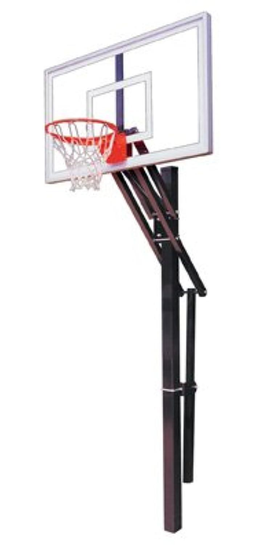 最初チームSlam Nitro steel-glass in ground調整可能バスケットボールsystem44、パープル