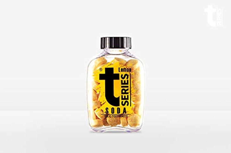 運動歪める販売計画T - シリーズチュアブル ポータブル練り歯磨きソリッドタブレット型60タブ# ソーダレモン