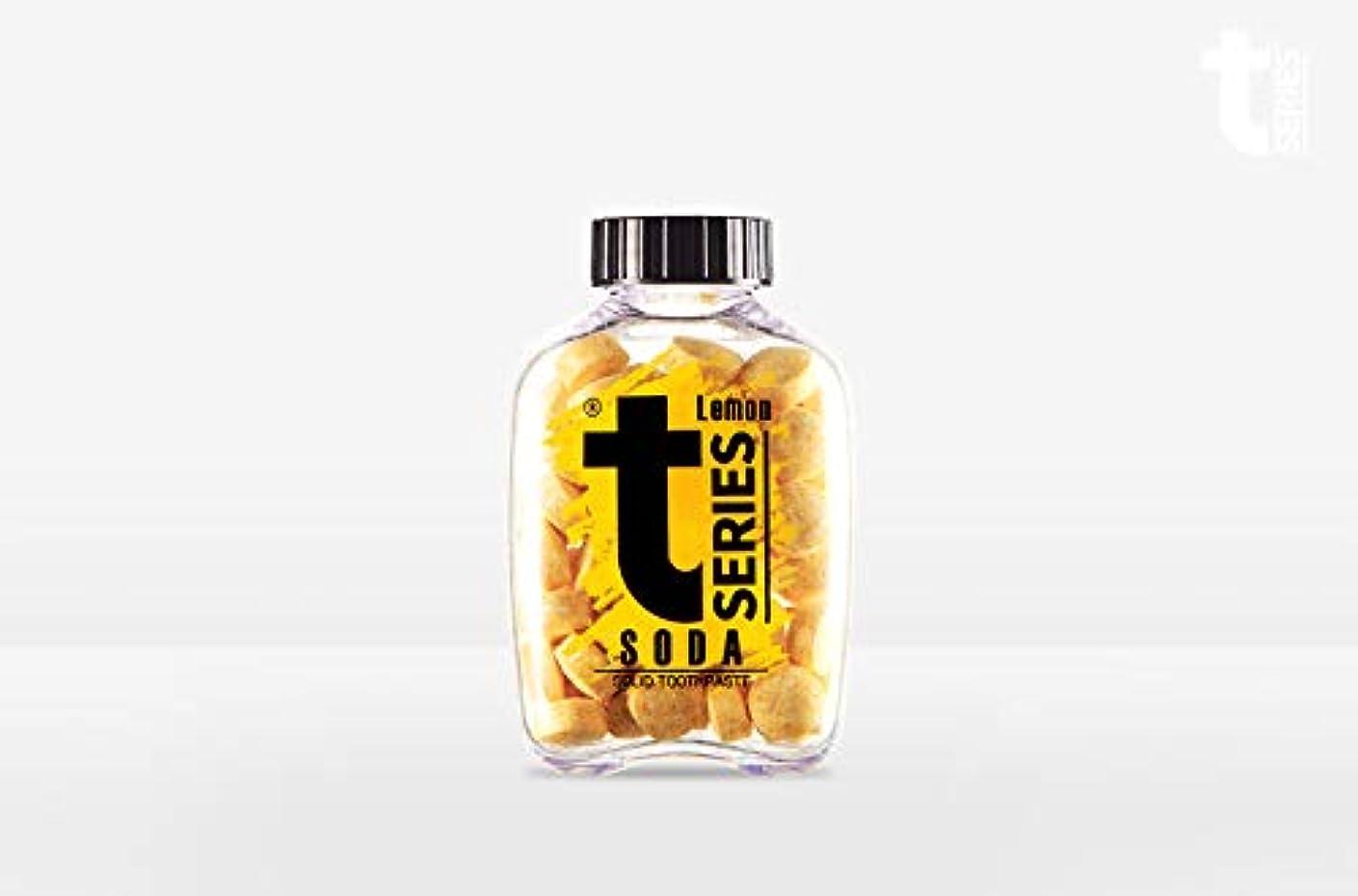 観察有益な酔っ払いT - シリーズチュアブル ポータブル練り歯磨きソリッドタブレット型60タブ# ソーダレモン