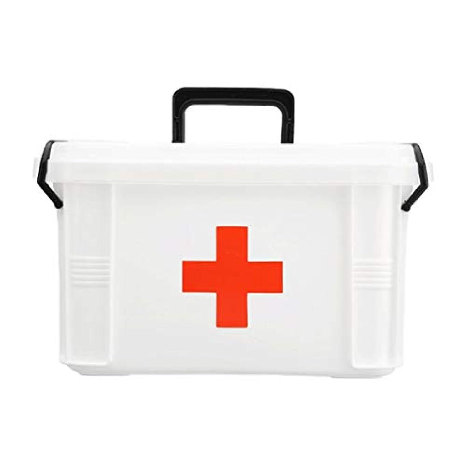 ブランドゴミしてはいけない家族大型プラスチック製の薬箱子供多層応急処置キット健康収納ボックス HUXIUPING (Size : Extra Large)