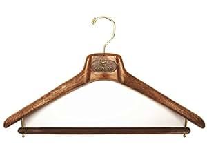 (マイネッティ) MAINETTIサルトリアーレ コート用 スーツ用 ハンガー 43cm5本セット ブラウン