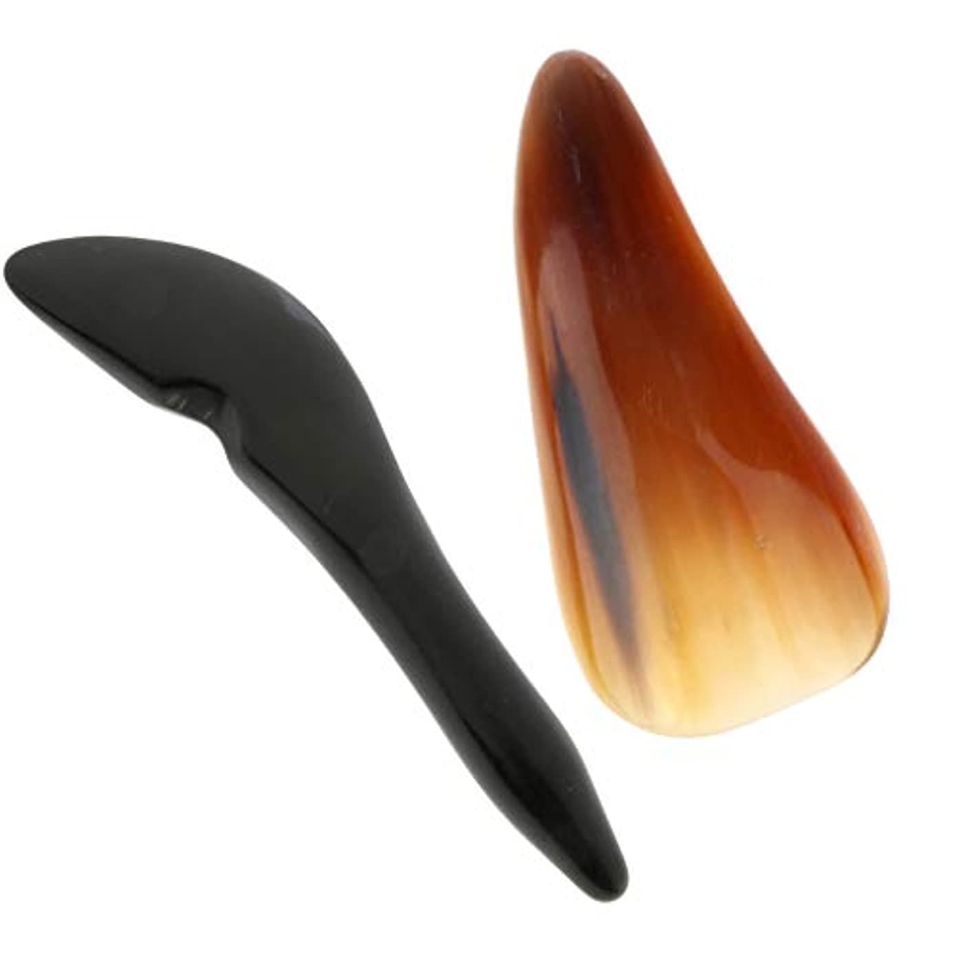 祝福する進化する沈黙マッサージツール グアシャ スクレーパー ボード スクレーピング 使いやすい 2個入