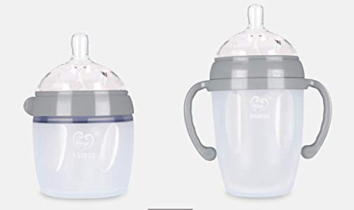 Haakaa Generation 3 Silicone Pump and Bottle Pack, Grey