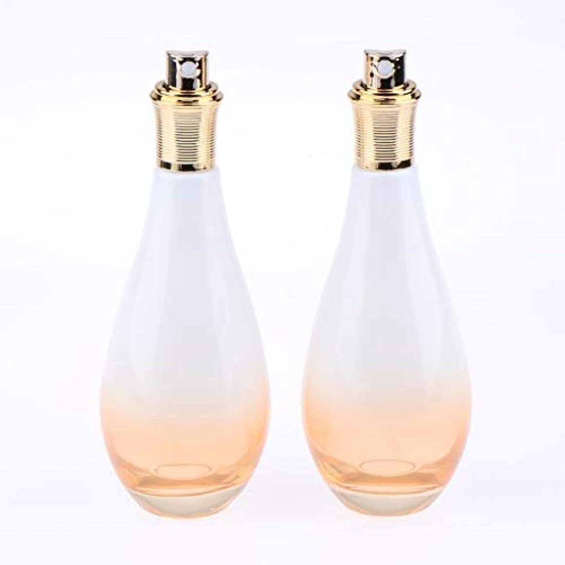 形状小川写真を描くF Fityle 2個 ガラス スプレーボトル 香水ボトル アトマイザー 小分け容器 3サイズ選べ - 100ミリリットル