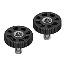 """DREAMGRIP Original Moulded 1/4"""" Bolt   Quick Release Thumb Screw 1/4"""" with Extra Inner Head Female Thread (2 Screws in a Pack)"""