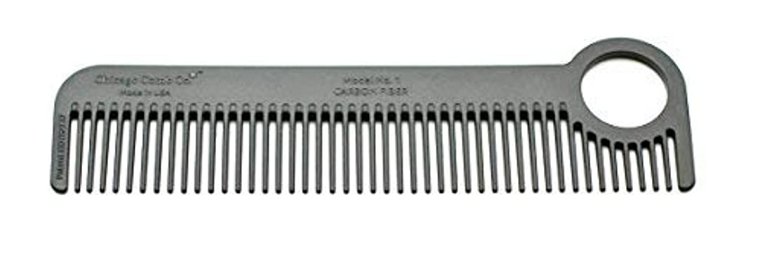 Chicago Comb Model 1 Carbon Fiber, Made in USA, ultra smooth, strong, and light, anti-static, heat-resistant,...