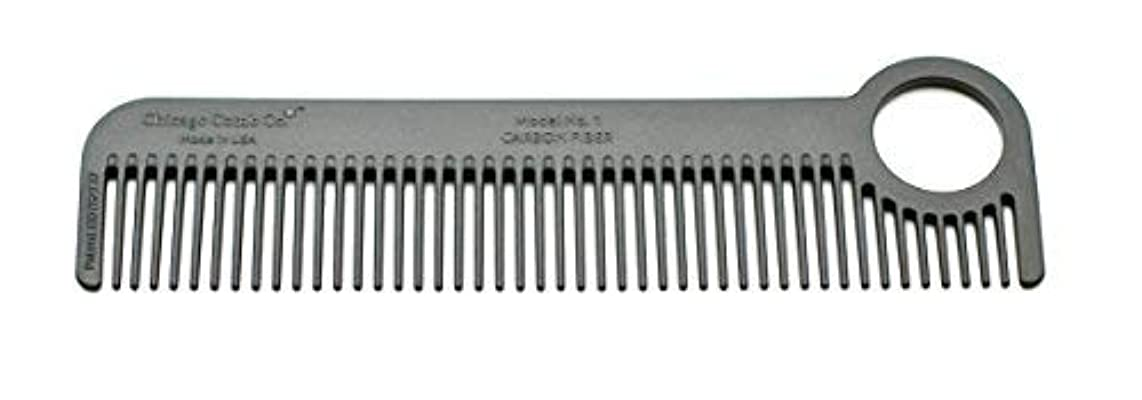 クリーム意識的告白Chicago Comb Model 1 Carbon Fiber, Made in USA, ultra smooth, strong, and light, anti-static, heat-resistant,...