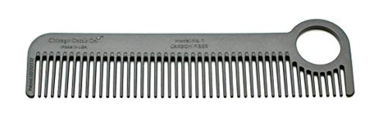 標準たっぷりアーサーコナンドイルChicago Comb Model 1 Carbon Fiber, Made in USA, ultra smooth, strong, and light, anti-static, heat-resistant,...
