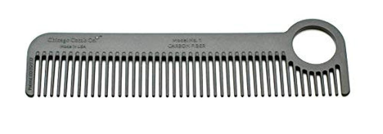 ニンニク通り抜けるお茶Chicago Comb Model 1 Carbon Fiber, Made in USA, ultra smooth, strong, and light, anti-static, heat-resistant,...