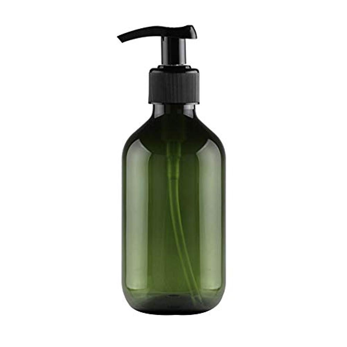 アルバムビルラベンダーVi.yo 小分けボトル ポンプボトル 押し式詰替用ボトル 携帯用 旅行 出張用 シャンプー 乳液など入り トラベルボトル 300ml ダークグリーン