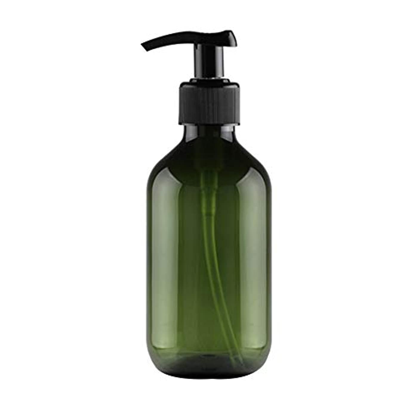 中断あなたは航海Vi.yo 小分けボトル ポンプボトル 押し式詰替用ボトル 携帯用 旅行 出張用 シャンプー 乳液など入り トラベルボトル 300ml ダークグリーン