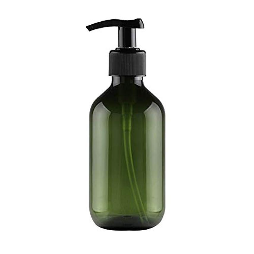 ピグマリオン仮説不公平Vi.yo 小分けボトル ポンプボトル 押し式詰替用ボトル 携帯用 旅行 出張用 シャンプー 乳液など入り トラベルボトル 300ml ダークグリーン