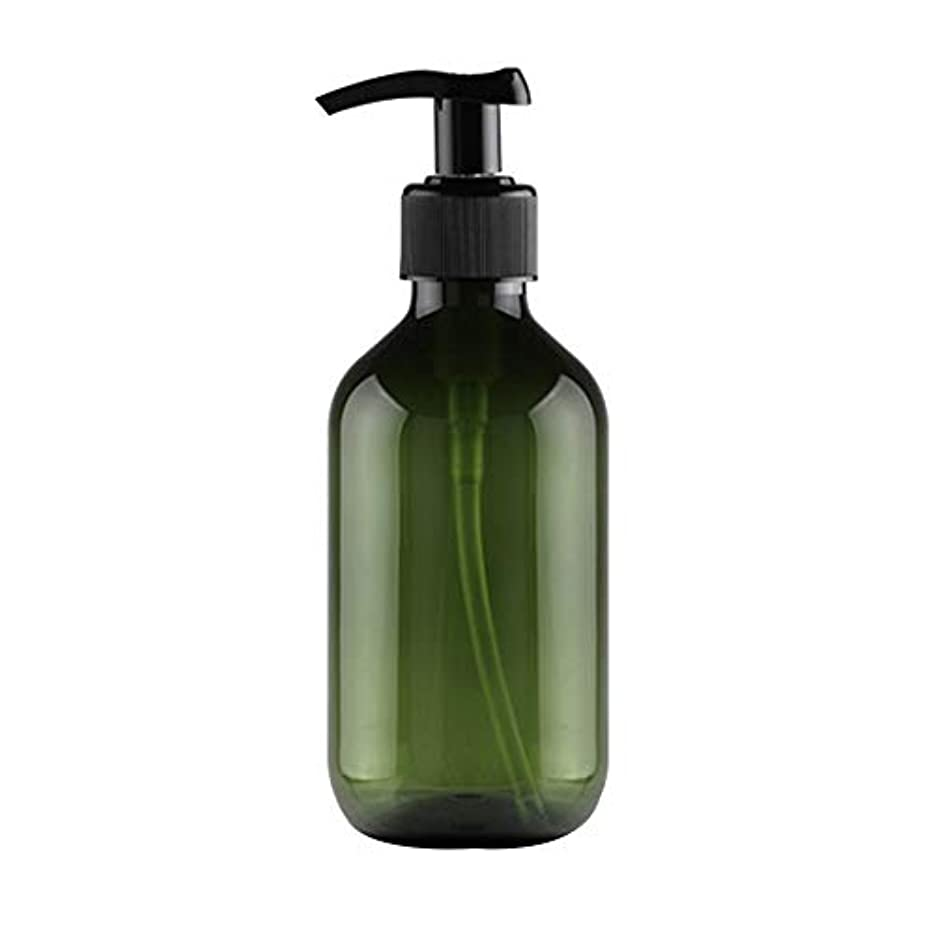 不倫穿孔する期待するVi.yo 小分けボトル ポンプボトル 押し式詰替用ボトル 携帯用 旅行 出張用 シャンプー 乳液など入り トラベルボトル 300ml ダークグリーン