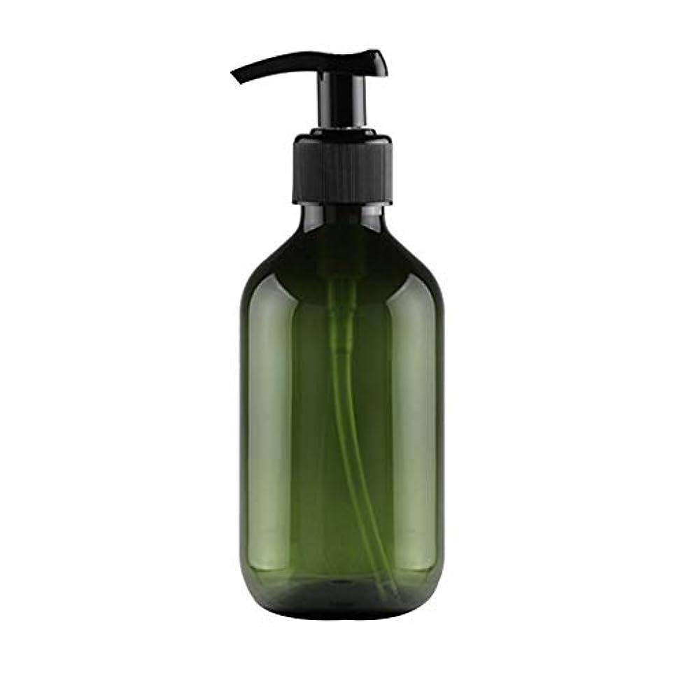 憂慮すべき気まぐれな市民権Vi.yo 小分けボトル ポンプボトル 押し式詰替用ボトル 携帯用 旅行 出張用 シャンプー 乳液など入り トラベルボトル 300ml ダークグリーン