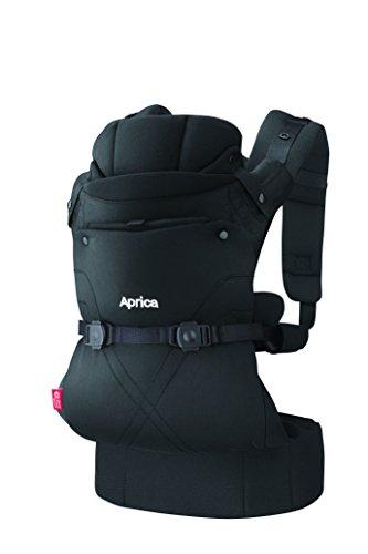 Aprica (アップリカ) 抱っこひも コラン CTS AB ブラック BK 4WAYタイプ 【疲れにくい腰ベルト & モッチリ肩パッド付】 39575