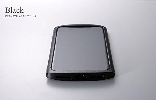 アルミ製SIM PIN セット品 Deff ディーフ CLEAVE アルミバンパー ellipse エリプス ケース iPhoneX (ブラック)