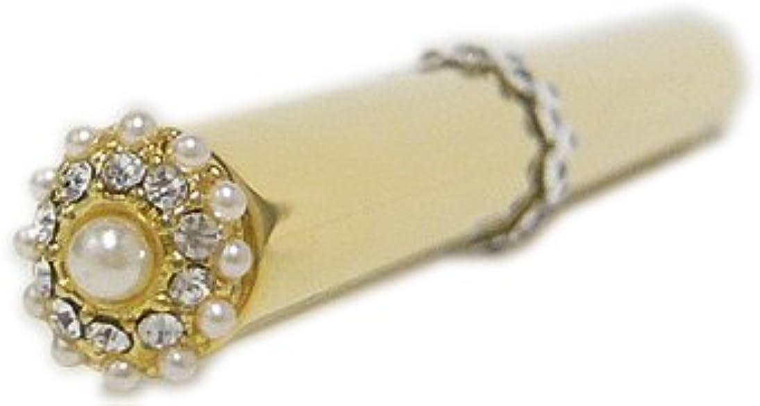 殺します深い金属アトマイザー 香水 ロールオン 詰め替え 『fleurパール』 スティックアトマイザー (ゴールド ? メタル) / スワロフスキー クリスタル/携帯性?遮光性?保香性 ホワイトデー