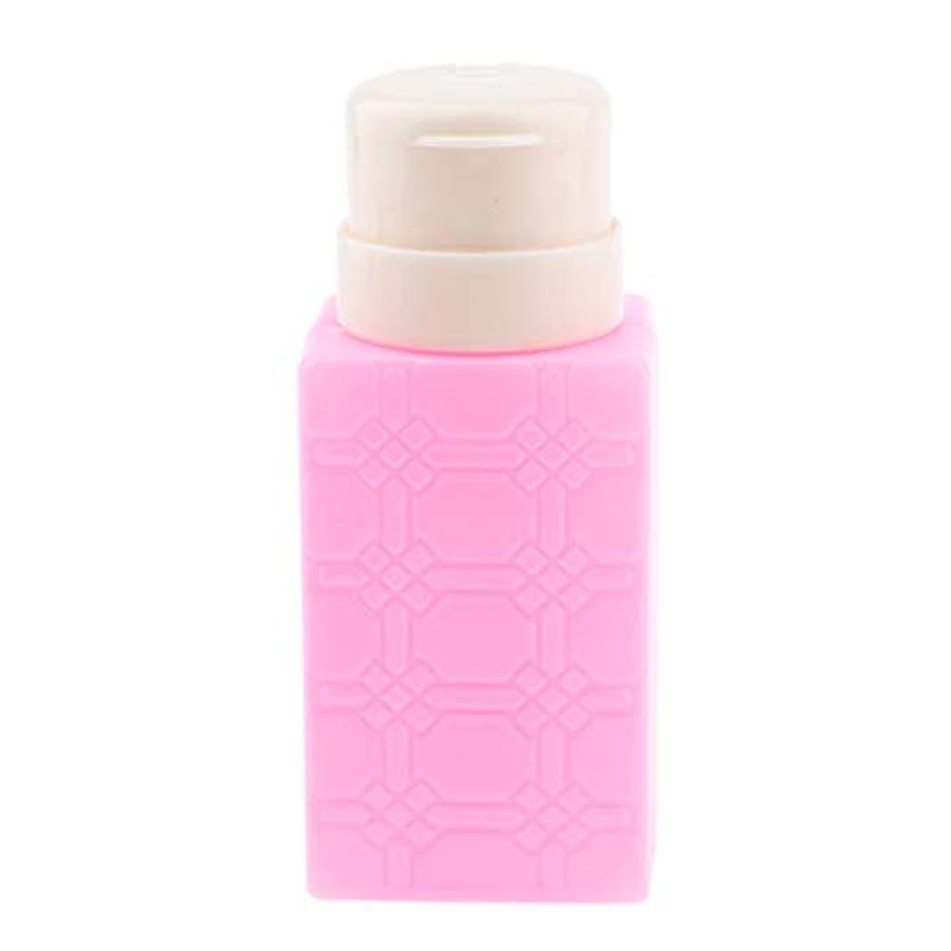 郵便屋さん優雅ビル200ml ネイルアート ディスペンサーポンプボトル ネイルサロン 4色選べ - ローズレッド