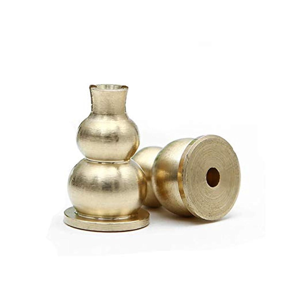 変色する聖なる解釈afzshg真鍮Mini Incense Holder and Sticksお香バーナーホルダーGourdシェイプイエロー