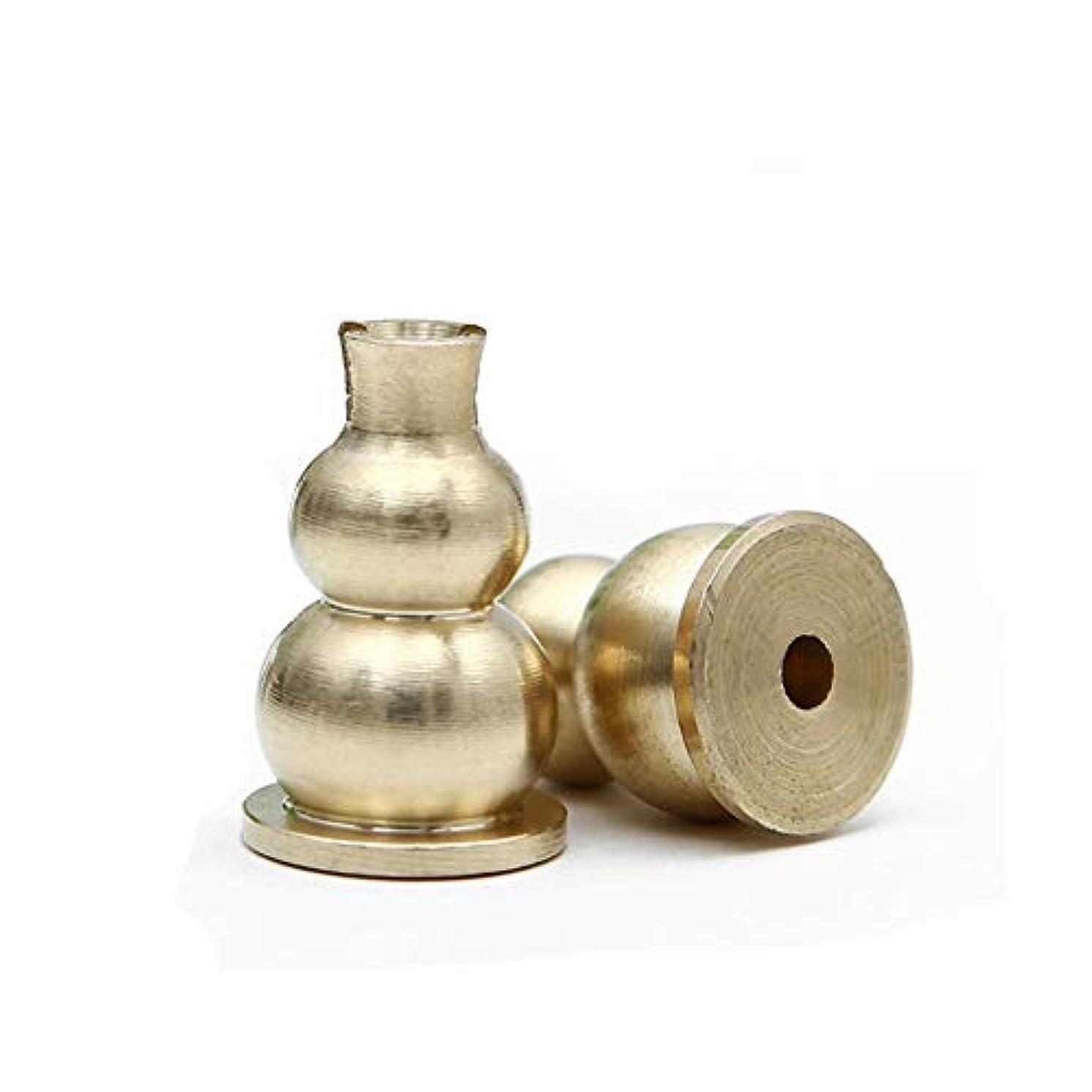 afzshg真鍮Mini Incense Holder and Sticksお香バーナーホルダーGourdシェイプイエロー