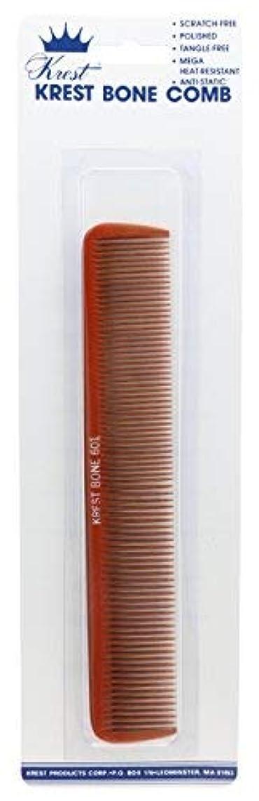 昇進ラフブームKrest 7 Inch Bone Comb. All Purpose Styling Cutting Comb. Heat Resistant Bone Comb. Styling Combs. [並行輸入品]