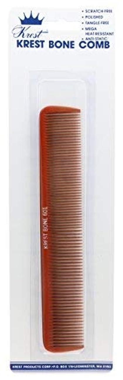 無おじさんレタッチKrest 7 Inch Bone Comb. All Purpose Styling Cutting Comb. Heat Resistant Bone Comb. Styling Combs. [並行輸入品]