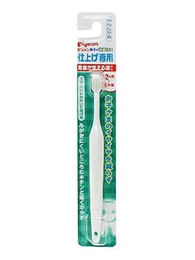 現代のほぼ変換する【まとめ買い】ピジョン 仕上げ専用歯ブラシ 奥歯が生える頃から ×3個